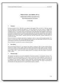 Polyvinyl Alcohol (Pva) Chemical and Tec... by Saxena, S. K.