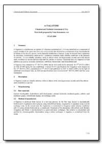 D-Tagatose Chemical and Technical Assess... by Kawamura, Yoko