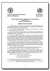Joint Fao/Who Expert Committee on Food A... by Food and Agriculture Organization of the United Na...