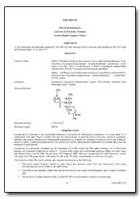Lincomycin by Kinabo, Ludovick D. B.