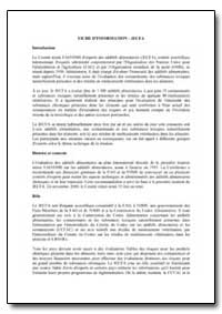 Fiche D'Information-Jecfa by Food and Agriculture Organization of the United Na...