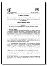 Fao/Who Consultation Principles and Guid... by Luna, José Luis Flores