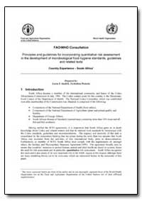 Fao/Who Consultation Principles and Guid... by Pretoria, Technikon