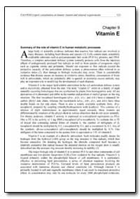 Chapter 9 Vitamin E by Food and Agriculture Organization of the United Na...