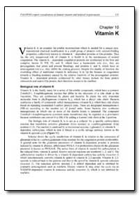 Chapter 10 Vitamin K by Food and Agriculture Organization of the United Na...