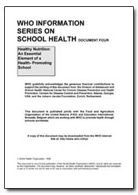 Who Information Series on School Health by Food and Agriculture Organization of the United Na...