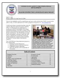 Iraq Reconstruction and Humanitarian Rel... by International Development Agency