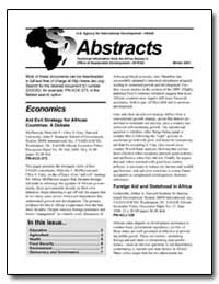 Abstracts Winter 2001 by International Development Agency
