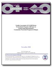 Gender Assessment of Usaid/Mexico Enviro... by Vidal, Rosa Maria