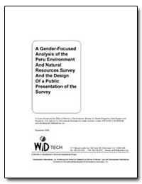 A Gender-Focused Analysis of the Peru En... by Rojas, Mary Hill