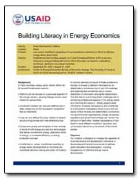 Building Literacy in Energy Economics by International Development Agency