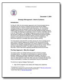 Strategic Management - Interim Guidance by International Development Agency