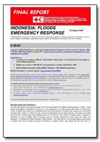 Indonesia : Floods Emergency Response by International Development Agency