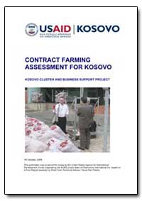Contract Farming Assessment for Kosovo by International Development Agency