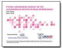 Fatwa Awareness Survey in the Autonomous... by International Development Agency