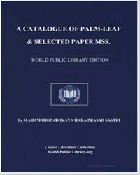 A Catalogue of Palm-leaf and Selected Pa... by Bendall, Cecil