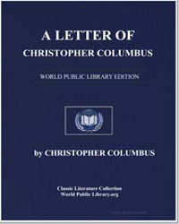 A Letter of Christopher Columbus by Columbus, Christopher