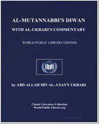 Al-Mutannabbi'S Diwan with Al-Ukbari'S C... by Allāh ibnal-Ḥusayn, Abd