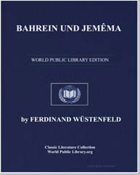Bahrain and Jemama by Wüstenfeld, Heinrich Ferdinand