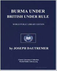 Burma Under British Rule by Dautremer, Joseph
