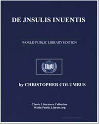 Concerning Discovered Islands: Letter of... by Columbus, Christopher