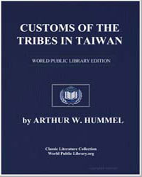 Customs of the Tribes in Taiwan by Hummel, Arthur W. (Arthur William)