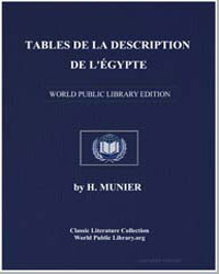 Description of Egypt: Index: Followed by... by Munier, Henri