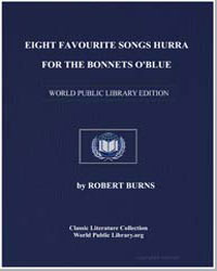 Eight Favourite Songs: Hurra for the Bon... by Burns, Robert