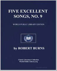 Five Excellent Songs: Old Towler; Pease-... by Burns, Robert