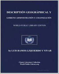 Geographical Description and Governmenta... by Ramos Izquierdo y Vivar, Luis