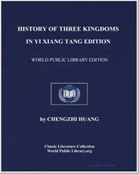 History of Three Kingdoms in Yi Xiang Ta... by Huang, Chengzhi