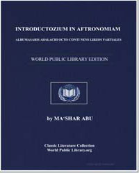 Introduction to Astronomy, Containing th... by Abū Ma'shar