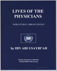 Lives of the Physicians by Ibn Abī Uṣaybiah, Aḥmad ibn al-Qāsim