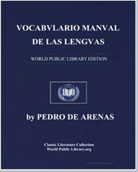 Manual Vocabulary of the Spanish and Mex... by Arenas, Pedro de