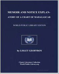 Memoir and Notice Explanatory of a Chart... by Lislet Geoffroy, Jean Baptiste