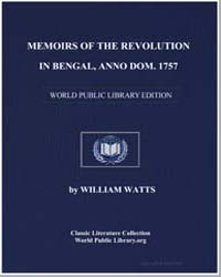 Memoirs of the Revolution in Bengal, Ann... by Watts, William