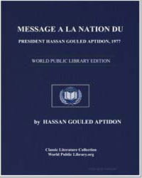 Message from President Hassan Gouled Apt... by Gouled Aptidon, Hassan