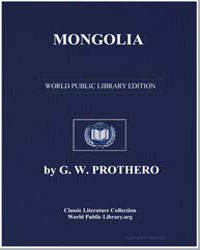 Mongolia by Prothero, G. W.‏ (George Walter)