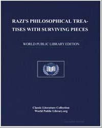 Razi's Philosophical Treatises with Surv... by Rāzī, Abū Bakr Muḥammad ibn Zakarīyā,