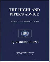 The Highland Piper's Advice to Drinkers by Burns, Robert