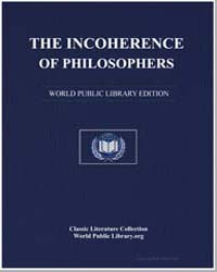 The Incoherence of Philosophers by Ghazzālī