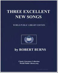 Three Excellent New Songs: Bonny Mally S... by Burns, Robert