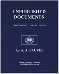 Unpublished Documents on the History of ... by Fauvel, Albert-Auguste