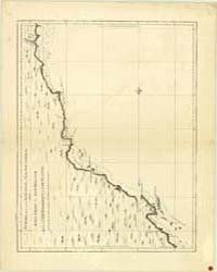 A Chart of Part of the Sea Coast of New ... by Cook James