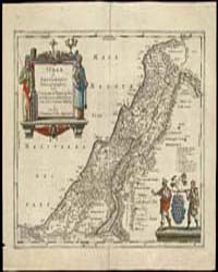 A Geographical Rendering of Judaea, or t... by Jansson, Jan
