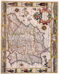 A Modern Map of Spain by Hondius, Jodocus,