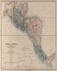 Map of Central America Including the Sta... by Baily, John