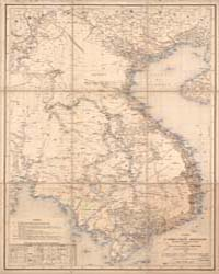 Map of Eastern Indochina by Rhins, J.-L. Dutreuil de