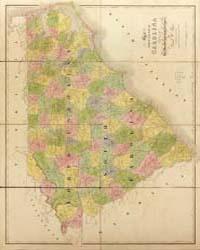 Map of North and South Carolina by Burr, David H.