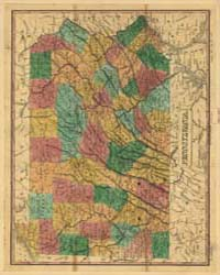 Map of Pennsylvania, 1829 by Finley, Anthony, circa